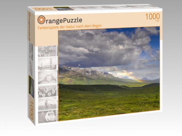 """Puzzle Motiv """"Farbenspiele der Natur nach dem Regen"""" - Puzzle-Schachtel zu 1000 Teile Puzzle"""