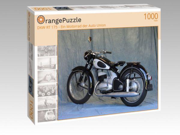 """Puzzle Motiv """"DKW RT 175 - Ein Motorrad der Auto Union"""" - Puzzle-Schachtel zu 1000 Teile Puzzle"""