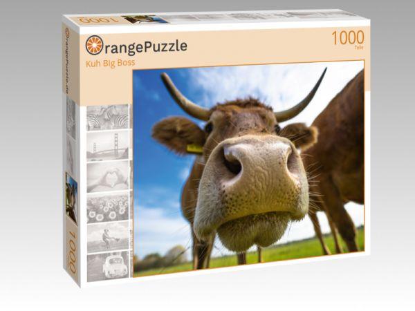 """Puzzle Motiv """"Kuh Big Boss"""" - Puzzle-Schachtel zu 1000 Teile Puzzle"""