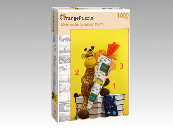 """Puzzle Motiv """"Mein erster Schultag, hurra."""" - Puzzle-Schachtel zu 1000 Teile Puzzle"""