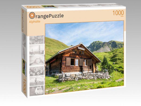 """Puzzle Motiv """"Alphütte"""" - Puzzle-Schachtel zu 1000 Teile Puzzle"""