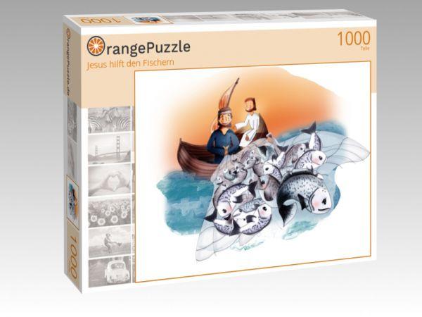 """Puzzle Motiv """"Jesus hilft den Fischern"""" - Puzzle-Schachtel zu 1000 Teile Puzzle"""