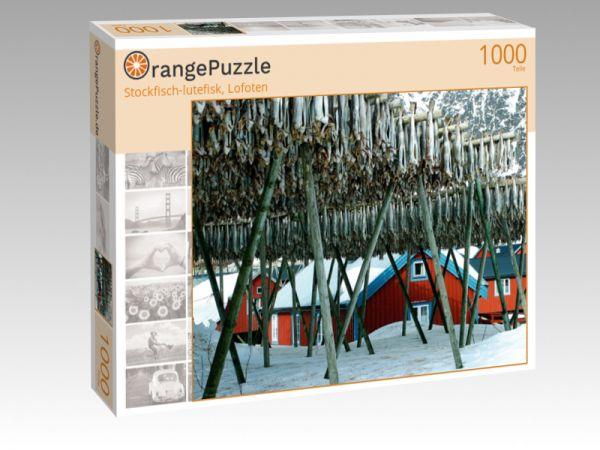 """Puzzle Motiv """"Stockfisch-lutefisk, Lofoten"""" - Puzzle-Schachtel zu 1000 Teile Puzzle"""