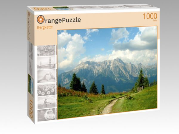 """Puzzle Motiv """"Bergkette"""" - Puzzle-Schachtel zu 1000 Teile Puzzle"""