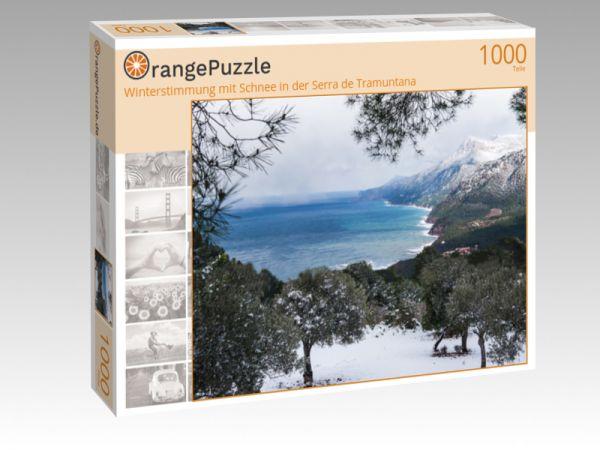 """Puzzle Motiv """"Winterstimmung mit Schnee in der Serra de Tramuntana"""" - Puzzle-Schachtel zu 1000 Teile Puzzle"""