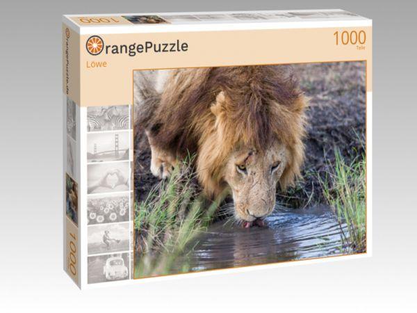 """Puzzle Motiv """"Löwe"""" - Puzzle-Schachtel zu 1000 Teile Puzzle"""