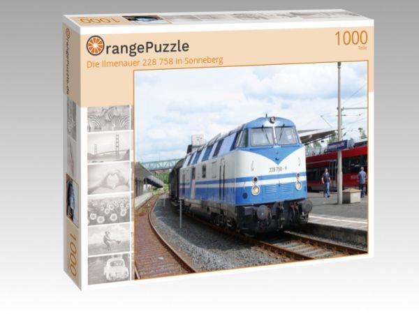 """Puzzle Motiv """"Die Ilmenauer 228 758 in Sonneberg"""" - Puzzle-Schachtel zu 1000 Teile Puzzle"""