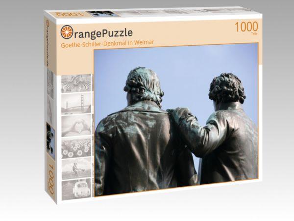 """Puzzle Motiv """"Goethe-Schiller-Denkmal in Weimar"""" - Puzzle-Schachtel zu 1000 Teile Puzzle"""