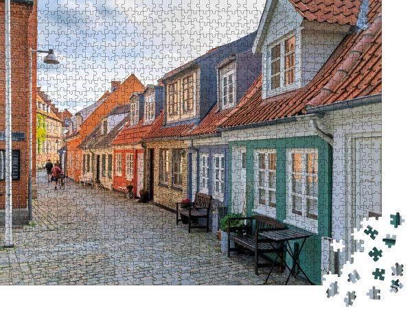 """Puzzle-Motiv """"Peder Barkes Gade, Aalborg, Dänemark"""" - Puzzle-Schachtel zu 1000 Teile Puzzle"""