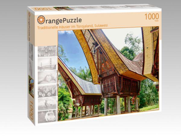 "Puzzle Motiv ""Traditionelle Häuser im Torojaland, Sulawesi"" - Puzzle-Schachtel zu 1000 Teile Puzzle"