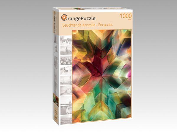 """Puzzle Motiv """"Leuchtende Kristalle - Encaustic"""" - Puzzle-Schachtel zu 1000 Teile Puzzle"""