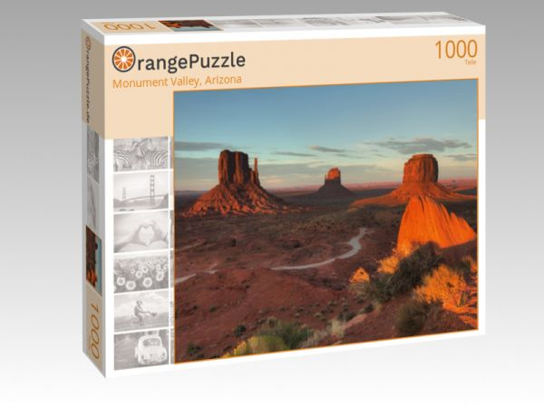 """Puzzle Motiv """"Monument Valley, Arizona"""" - Puzzle-Schachtel zu 1000 Teile Puzzle"""