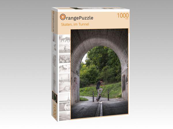 """Puzzle Motiv """"Skaten, im Tunnel"""" - Puzzle-Schachtel zu 1000 Teile Puzzle"""