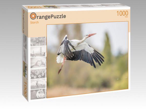 """Puzzle Motiv """"Storch"""" - Puzzle-Schachtel zu 1000 Teile Puzzle"""