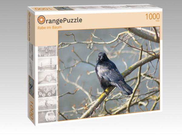 "Puzzle Motiv ""Rabe im Baum"" - Puzzle-Schachtel zu 1000 Teile Puzzle"