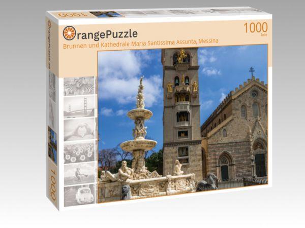 """Puzzle Motiv """"Brunnen und Kathedrale Maria Santissima Assunta, Messina"""" - Puzzle-Schachtel zu 1000 Teile Puzzle"""