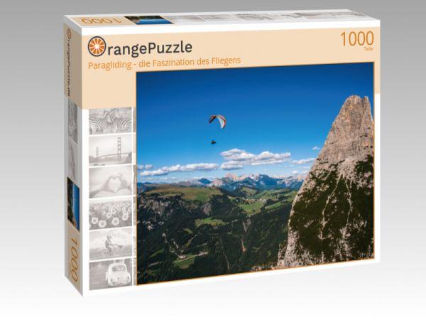 """Puzzle Motiv """"Paragliding - die Faszination des Fliegens"""" - Puzzle-Schachtel zu 1000 Teile Puzzle"""