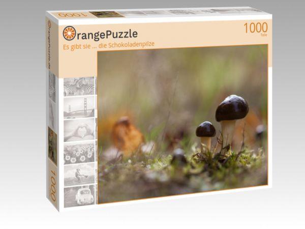 """Puzzle Motiv """"Es gibt sie ... die Schokoladenpilze"""" - Puzzle-Schachtel zu 1000 Teile Puzzle"""