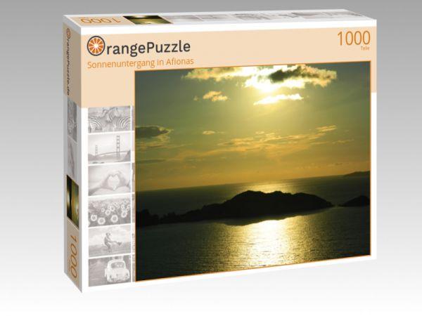 "Puzzle Motiv ""Sonnenuntergang in Afionas"" - Puzzle-Schachtel zu 1000 Teile Puzzle"
