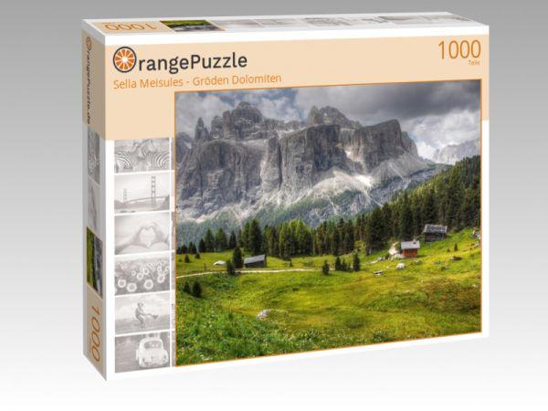"""Puzzle Motiv """"Sella Meisules - Gröden Dolomiten"""" - Puzzle-Schachtel zu 1000 Teile Puzzle"""