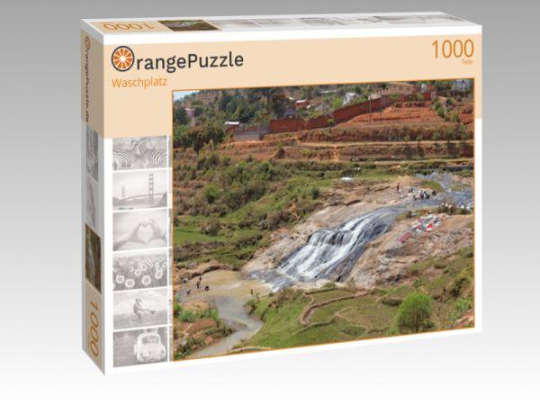 """Puzzle Motiv """"Waschplatz"""" - Puzzle-Schachtel zu 1000 Teile Puzzle"""