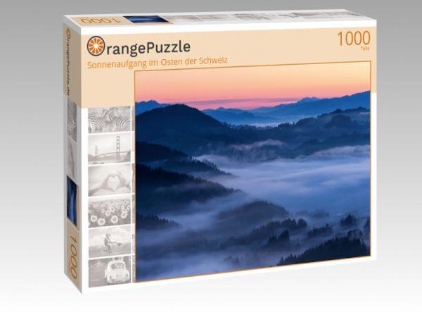 """Puzzle Motiv """"Sonnenaufgang im Osten der Schweiz"""" - Puzzle-Schachtel zu 1000 Teile Puzzle"""