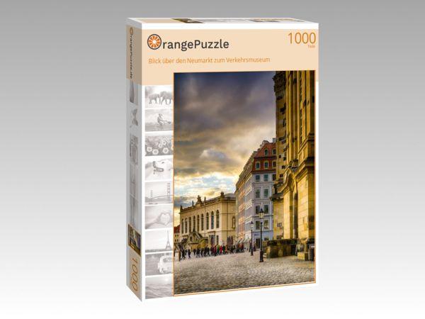 """Puzzle Motiv """"Blick über den Neumarkt zum Verkehrsmuseum"""" - Puzzle-Schachtel zu 1000 Teile Puzzle"""