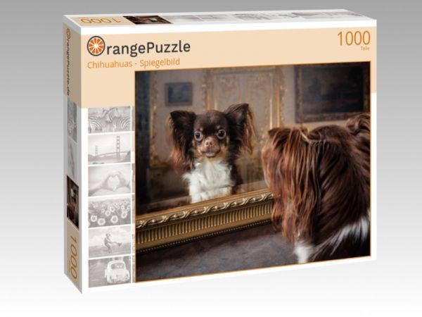 "Puzzle Motiv ""Chihuahuas - Spiegelbild"" - Puzzle-Schachtel zu 1000 Teile Puzzle"