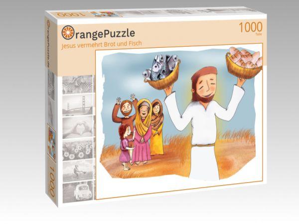 """Puzzle Motiv """"Jesus vermehrt Brot und Fisch"""" - Puzzle-Schachtel zu 1000 Teile Puzzle"""