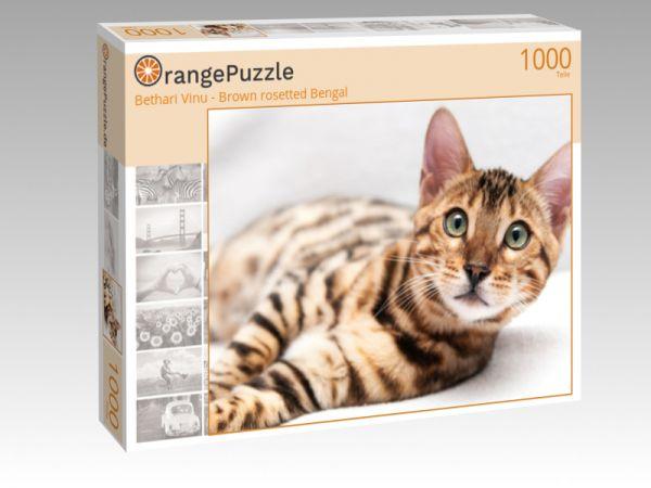 "Puzzle Motiv ""Bethari Vinu - Brown rosetted Bengal"" - Puzzle-Schachtel zu 1000 Teile Puzzle"