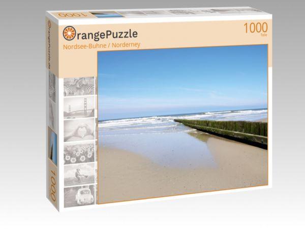 """Puzzle Motiv """"Nordsee-Buhne / Norderney"""" - Puzzle-Schachtel zu 1000 Teile Puzzle"""