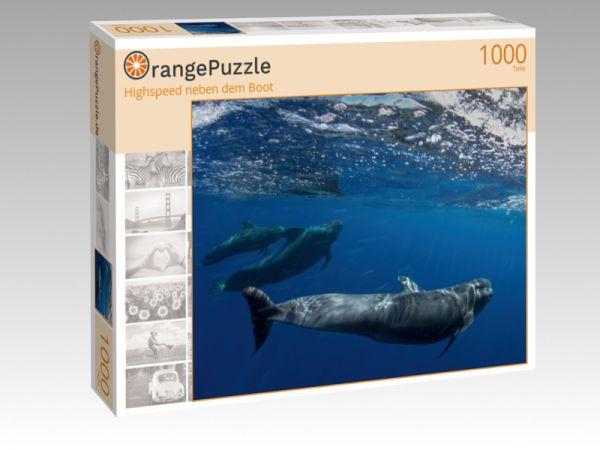 """Puzzle Motiv """"Highspeed neben dem Boot"""" - Puzzle-Schachtel zu 1000 Teile Puzzle"""