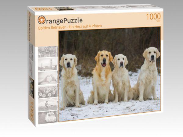 """Puzzle Motiv """"Golden Retriever - Ein Herz auf 4 Pfoten"""" - Puzzle-Schachtel zu 1000 Teile Puzzle"""