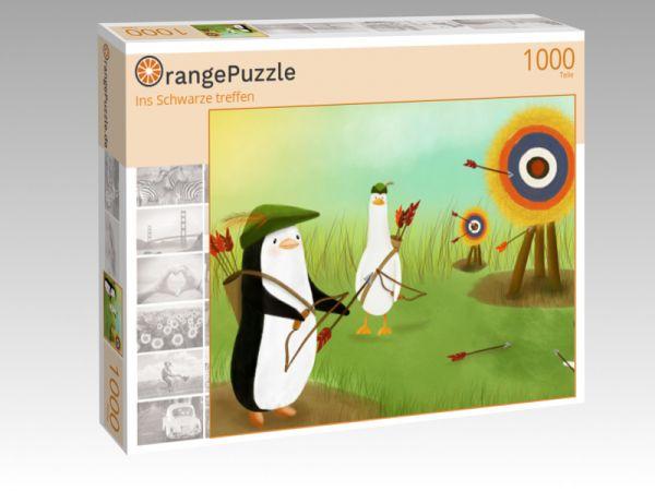 """Puzzle Motiv """"Ins Schwarze treffen"""" - Puzzle-Schachtel zu 1000 Teile Puzzle"""