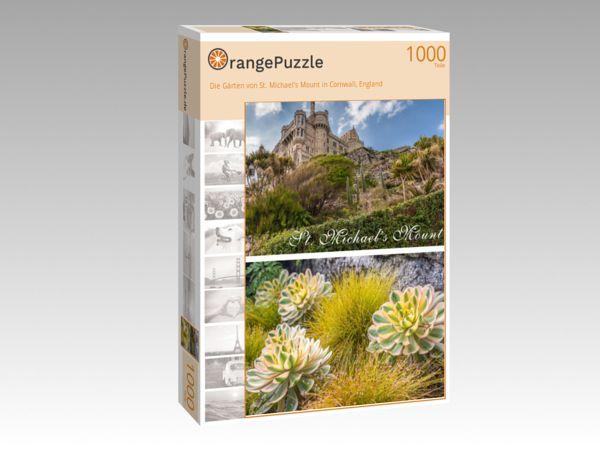 """Puzzle Motiv """"Die Gärten von St. Michael's Mount in Cornwall, England"""" - Puzzle-Schachtel zu 1000 Teile Puzzle"""