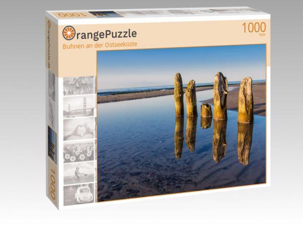 """Puzzle Motiv """"Buhnen an der Ostseeküste"""" - Puzzle-Schachtel zu 1000 Teile Puzzle"""