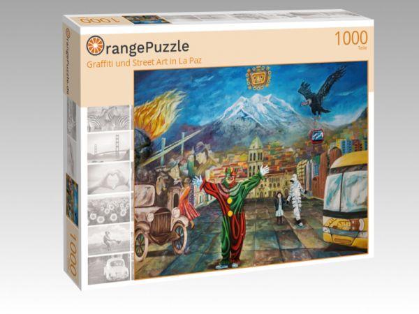 """Puzzle Motiv """"Graffiti und Street Art in La Paz"""" - Puzzle-Schachtel zu 1000 Teile Puzzle"""