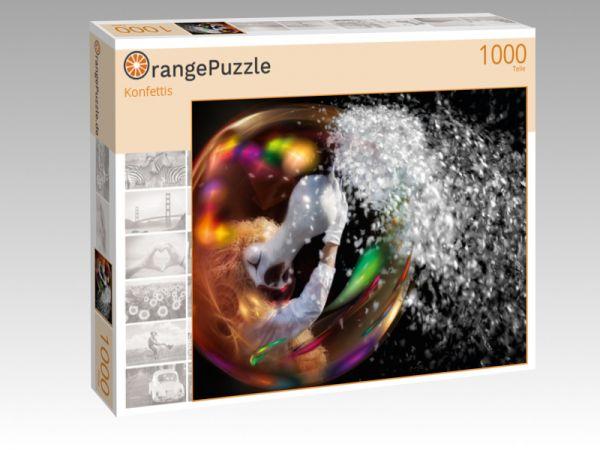 """Puzzle Motiv """"Konfettis"""" - Puzzle-Schachtel zu 1000 Teile Puzzle"""