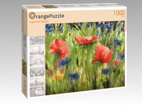 """Puzzle Motiv """"Aquarell Mohn"""" - Puzzle-Schachtel zu 1000 Teile Puzzle"""