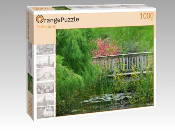 """Puzzle Motiv """"Teichbrücke"""" - Puzzle-Schachtel zu 1000 Teile Puzzle"""