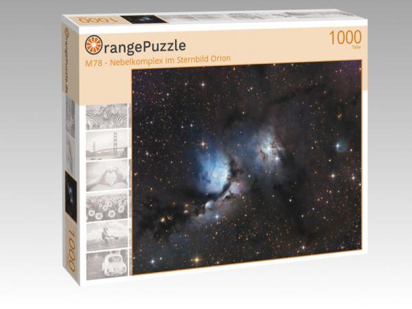 """Puzzle Motiv """"M78 - Nebelkomplex im Sternbild Orion"""" - Puzzle-Schachtel zu 1000 Teile Puzzle"""