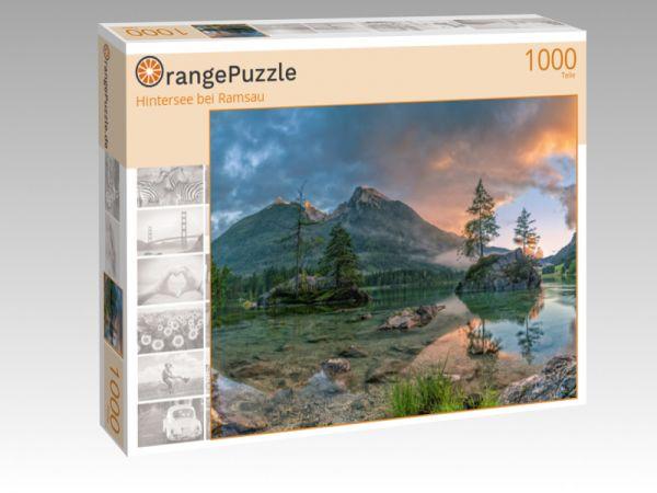 """Puzzle Motiv """"Hintersee bei Ramsau"""" - Puzzle-Schachtel zu 1000 Teile Puzzle"""
