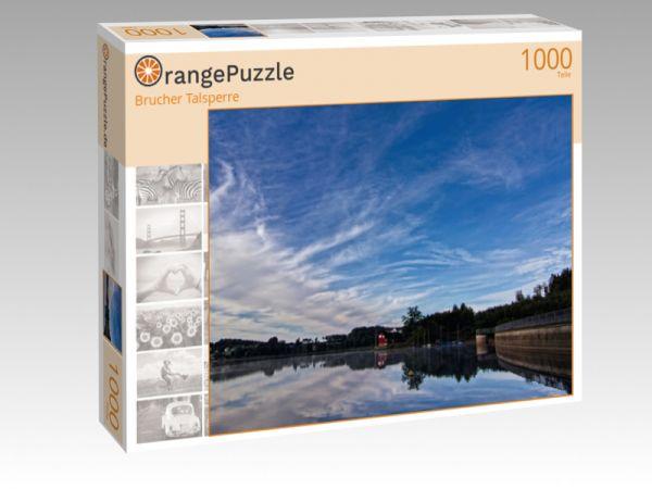 """Puzzle Motiv """"Brucher Talsperre"""" - Puzzle-Schachtel zu 1000 Teile Puzzle"""