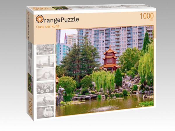 """Puzzle Motiv """"Oase der Ruhe"""" - Puzzle-Schachtel zu 1000 Teile Puzzle"""