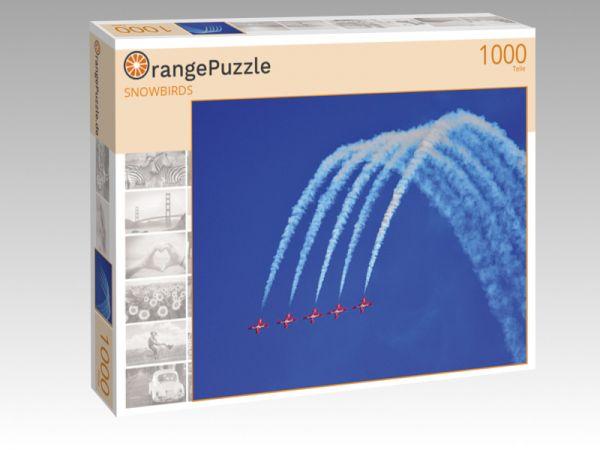 """Puzzle Motiv """"SNOWBIRDS"""" - Puzzle-Schachtel zu 1000 Teile Puzzle"""
