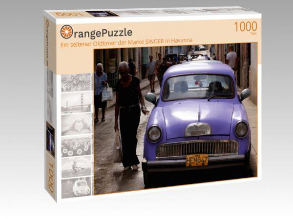 """Puzzle Motiv """"Ein seltener Oldtimer der Marke SINGER in Havanna"""" - Puzzle-Schachtel zu 1000 Teile Puzzle"""