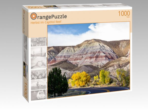 "Puzzle Motiv ""Herbst im Captitol Reef"" - Puzzle-Schachtel zu 1000 Teile Puzzle"