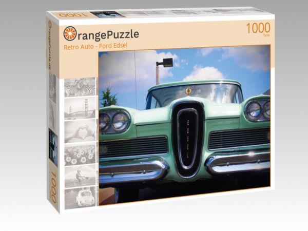 """Puzzle Motiv """"Retro Auto - Ford Edsel"""" - Puzzle-Schachtel zu 1000 Teile Puzzle"""