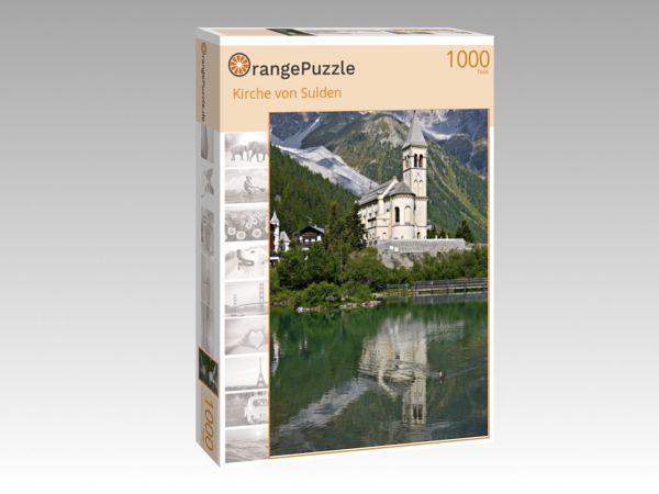 """Puzzle Motiv """"Kirche von Sulden"""" - Puzzle-Schachtel zu 1000 Teile Puzzle"""