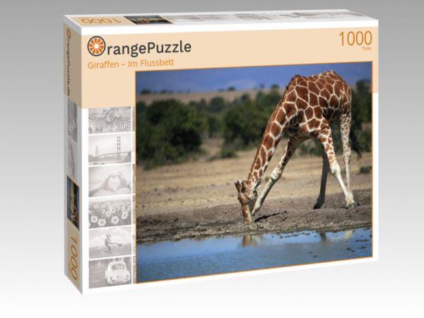 """Puzzle Motiv """"Giraffen – Im Flussbett"""" - Puzzle-Schachtel zu 1000 Teile Puzzle"""